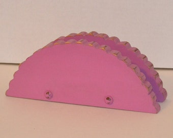 Napkin Holder Pink Upcycle Recycle Organizer Handmade Littlestsister