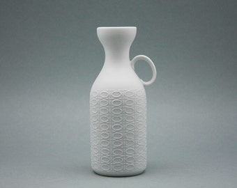 White bisque porcelain Op Art vase by Royal Bavaria KPM (Kerafina)