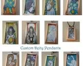 Custom Hand Drawn Pendants