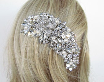 Crystal hair comb,bridal hair comb,wedding hair comb,wedding hair accessories,pearl bridal comb,crystal wedding comb,bridal headpieces