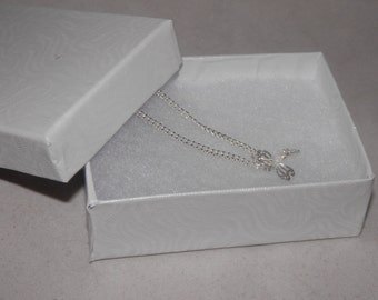 10 pack of 3.25x2.25 Swirl White Jewelry Presentation  Boxes, Retail Display Cotton Filled Gift Boxes
