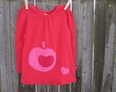 You Are My Heart Girls Valentine T shirt Heart and Apple