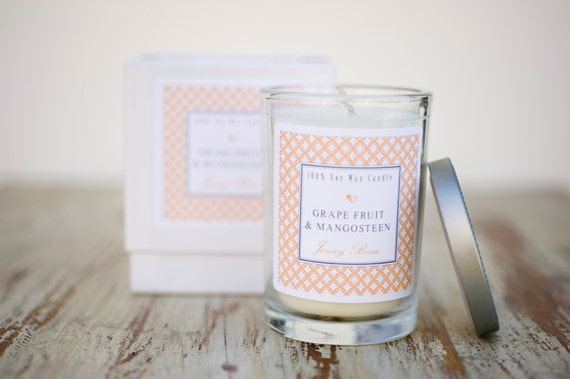 Grapefruit & Mangosteen Luxury Frangrant Soy Candle
