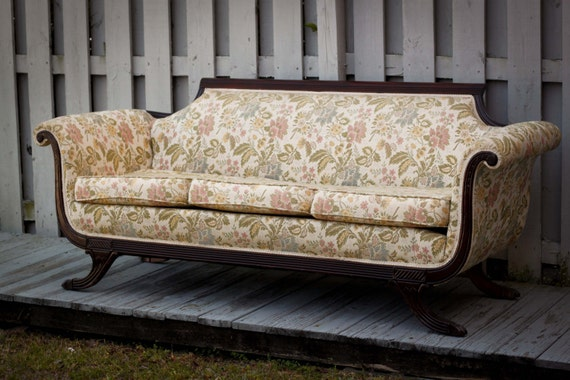 Items Similar To Custom Upholstery Vintage Duncan Phyfe Sofa On Etsy