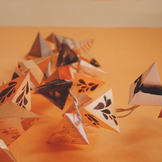 paper pyramid lanterns