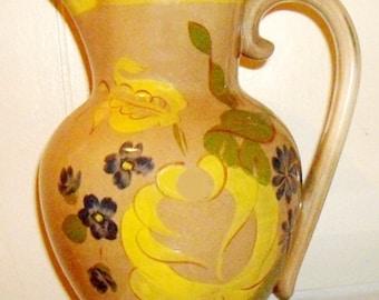 Red Wing Pottery Pitcher, stoneware jug, 1950s flower pitcher, Vintage red wing pottery, rustic farmhouse stoneware, mid century decor