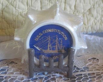 Naticaul  U.S.S Constitution Boston Ship Wheel Coasters :)