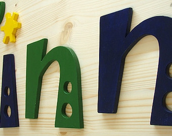 Children name Wooden letters Room decor