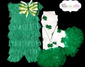 St. Patrick's Day Romper and Leg Warmer Set