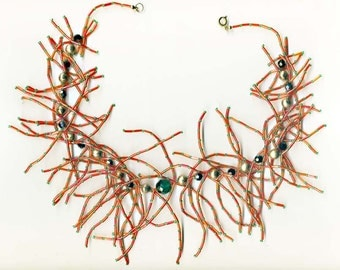 Orange Spikey Necklace