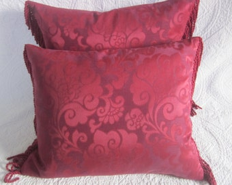 2x Crimson Rose Cushions 50 x 40cm