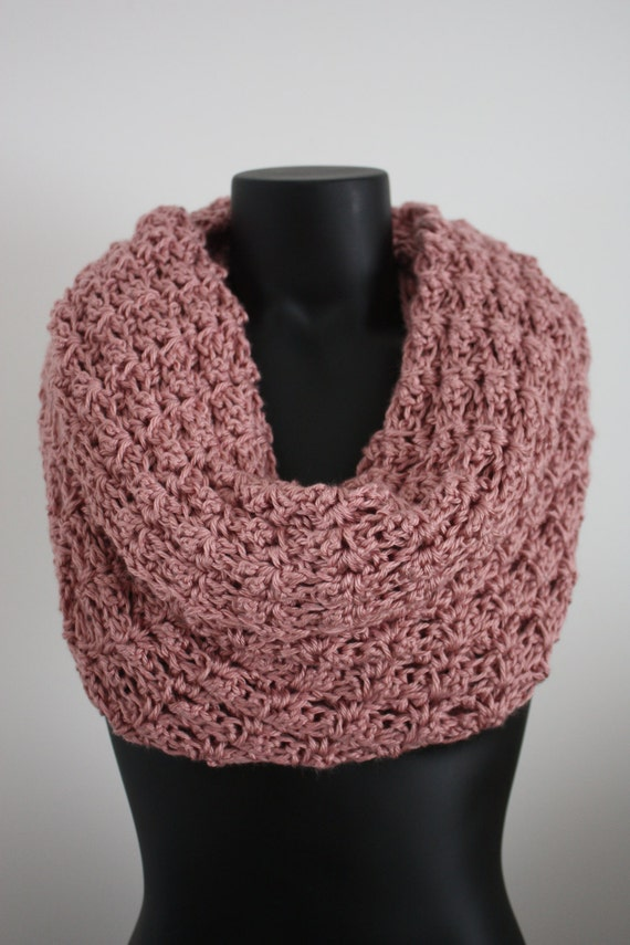 Soft Pink Crocheted Cowl, Portion of proceeds go to charity