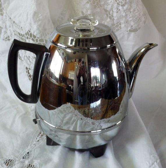 Vintage Deco Ge Pot Belly Automatic Percolator Coffee Pot