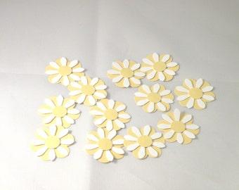 Daisy Table Confetti or Scrapbooking Embellishment