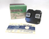 Vintage View Master Stereoscope 1940s Sawyers toy with box and 4 reels