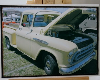 ACEO, ATC, Artist Trading Card, 1957 Chevy Truck, photograph