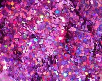 Slime Glitter Holo Purple Dot Glitter 1/2 Ounce 3 mm Circles Large Glitter Solvent Resistant