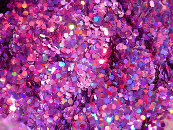 Solvent Resistant Glitter Holographic Lavender Dot Glitter 1/2