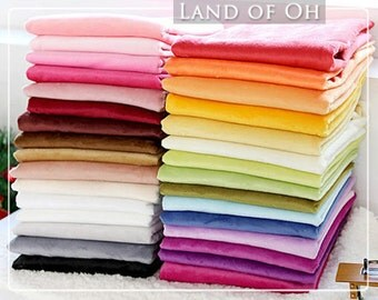 1 mm Smooth Cuddle Minky Fabric, Solid Minky Fabric, Choose from 31 Colors, Fabric By the Yard - 66453