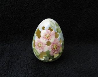 Decorative Egg: Hand Painted Porcelain
