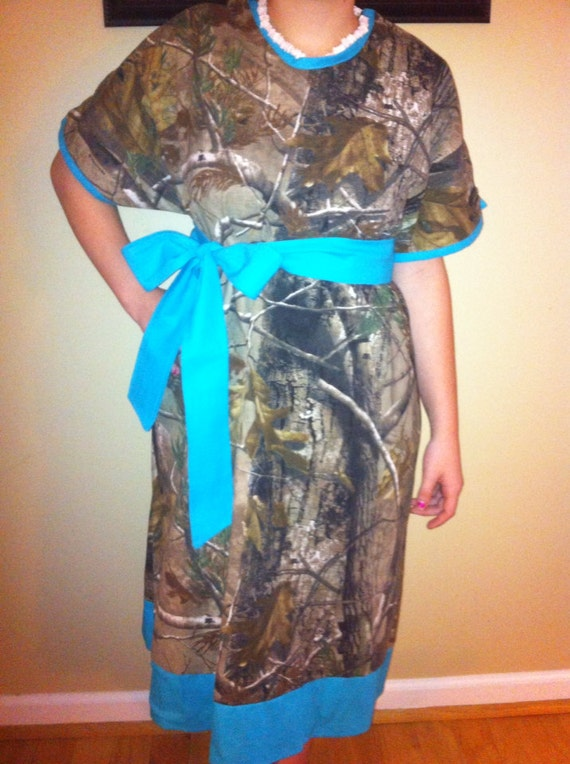 Items similar to Camo Maternity Hospital Gown on Etsy