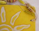 Tag-bookmark made with Batik handmade paper
