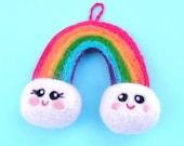 Soft Felt Colorful Rainbow for Nursery, Baby Mobile Charm