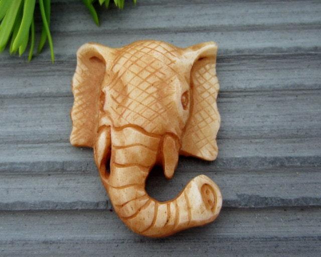Unique hand carved elephant bone carving sculpture
