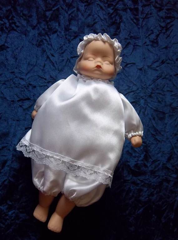 Musical With Motion Animated Baby Doll In Christening Outfit