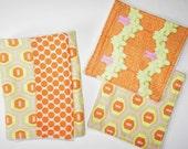 Burp cloth and wash cloth set