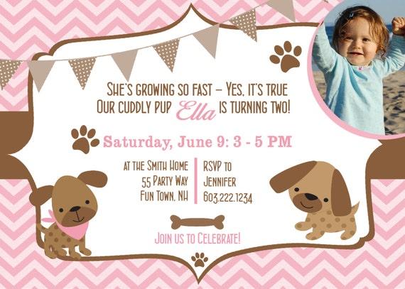 Dog birthday party invitations puppy dog party invites 2nd birthday il570xn filmwisefo