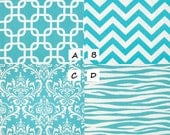 SPRING BLUE Collection- MEDIUM Dog Crate Cover- in your choice of fabric