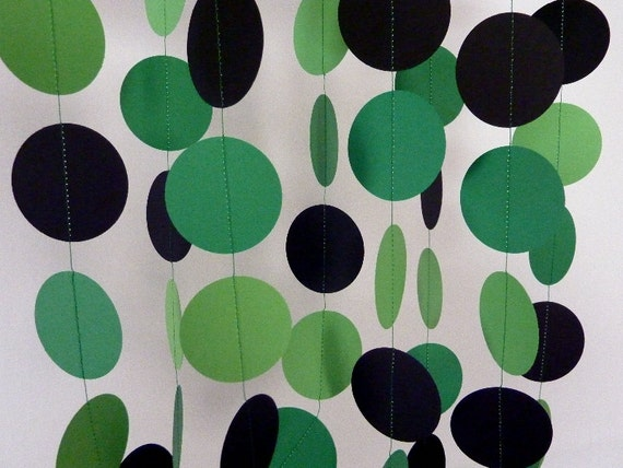 Black And Green Party Supplies 11