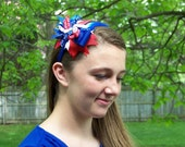 Large Patriotic Boutique Style Headbands for Girls