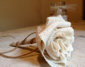 Burlap and Lace Guest Book Pen and Holder by Burlap and Linen Co
