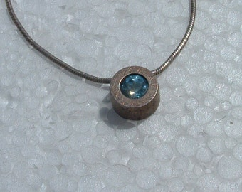 chain silver with blue topaz london stone  silver 925 hand made in 1960's made in Israel free shipping
