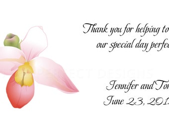"""Personalized Gratuity Vendor Tip Tipping Thank You Envelopes - """"Young Love Monogram""""-""""Orchid"""""""