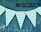 party printables, baby shower banner, birthday banner, turquoise party, turquoise birthday, turquoise baby shower, teal, baby shower boy