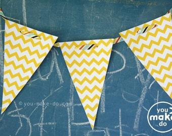yellow chevron banner printables birthday banner baby shower garland party printables 1st birthday boy banner first birthday girl decoration