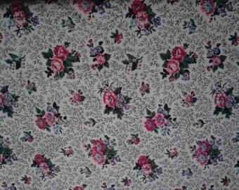 Vintage Barkcloth, floral print   ECS