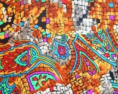 VTG 1970s Lilli Ann Broken Mosaic Texture Blouse