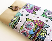 Kindle Case, Kindle Sleeve, Kindle fire cover, Nook cover, Google nexus 7 case-Owls