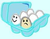 Good Bad Eggs APPLIQUE Embroidery Designs / 2 sizes     INSTANT DOWNLOAD