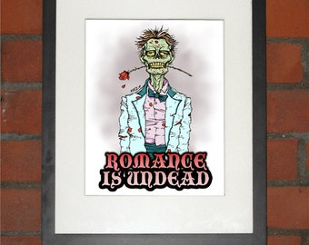 Zombie Romance Art Print