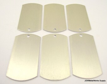 12 Large Champagne Anodized Aluminum Dog Tags, Large Blank Discs, Blank Stamping Tags