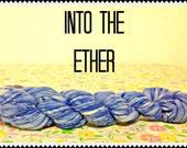 Hand Spun Hand Dyed Merino Wool Yarn Into the Ether