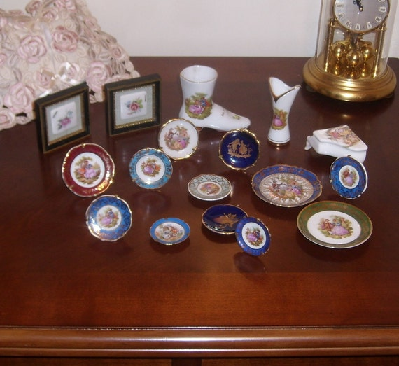 items similar to vintage limoges miniature plate france on etsy. Black Bedroom Furniture Sets. Home Design Ideas