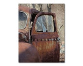 RUSTY RED TRUCK Farm Photography, Landscape, Farmhouse Chic, Fine Art - CountryWithAttitude