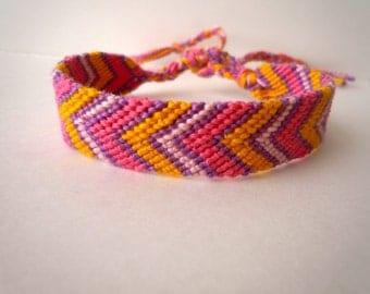Friendship Bracelet -Chevron - candy