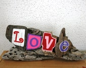 LOVE Driftwood Sign, Reclaimed Wood Art, Rustic Decor, Beach Decor, Valentine's Day Gift, Valentine's Day Decor ~Ready to Ship!~